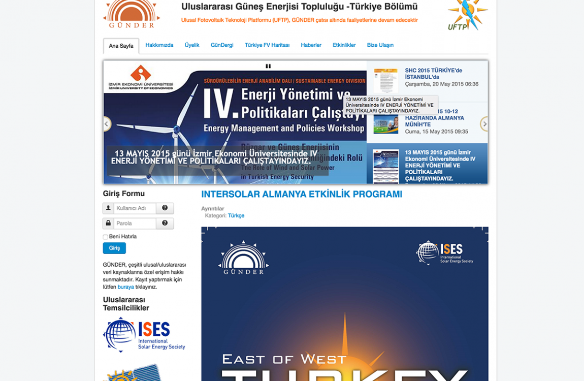 International Solar Energy Society – Turkey Department